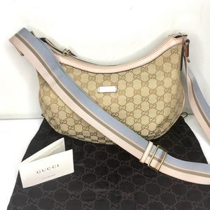 Authentic Gucci brown monogram canvas crossbody